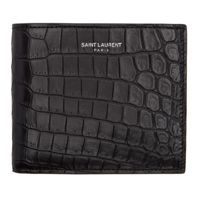 Photo: Saint Laurent Black Croc East/West Wallet