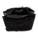 Sacai Black Small Faux-Fur Shopper Tote