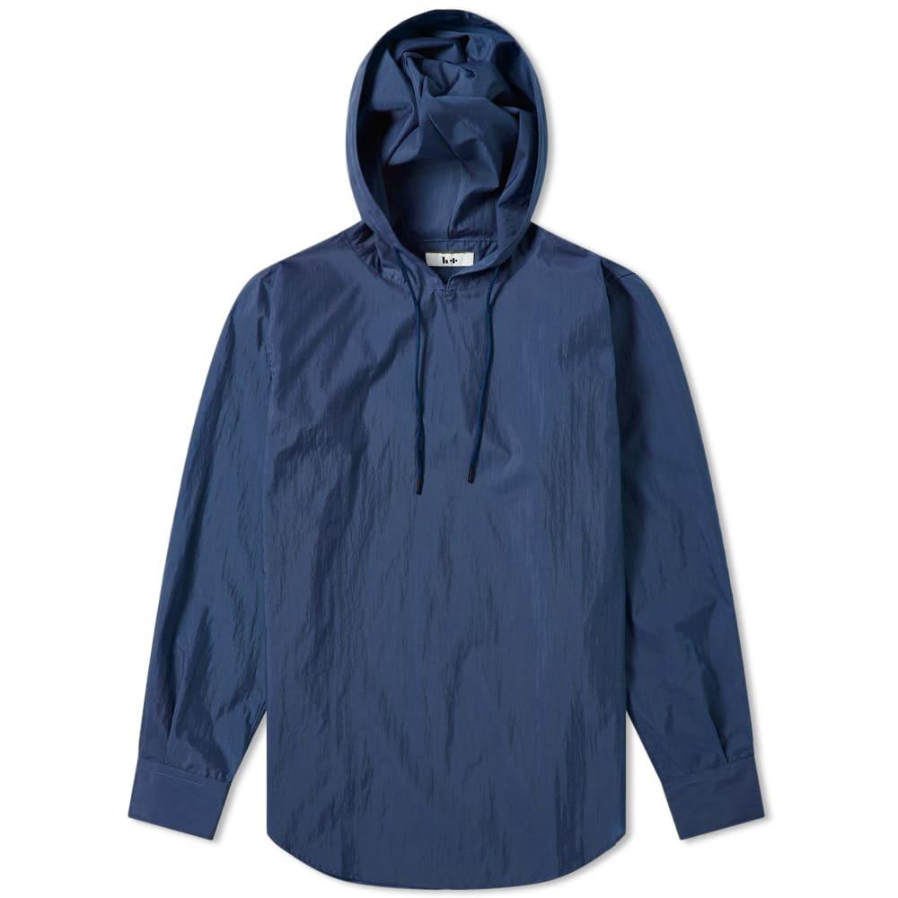 Photo: Head Porter Plus Hooded Nylon Shirt Navy