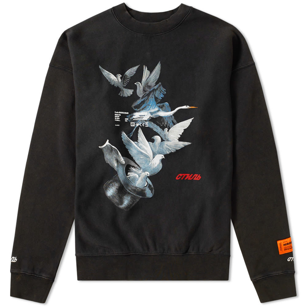 Photo: Heron Preston Doves Crew Sweat