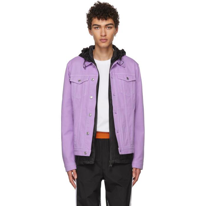 Photo: MSGM Purple Denim Jacket