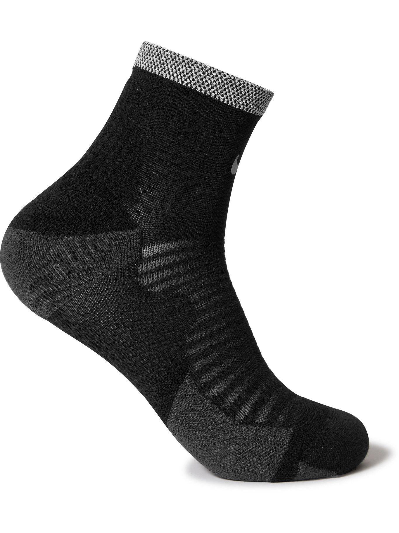 NIKE RUNNING - Spark Cushioned Dri-FIT Socks - Black - US 6