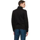 Giorgio Armani Black Jersey Blouson Zip Sweatshirt