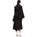Sacai Black Draped Back Jacket