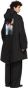 Raf Simons Black Fred Perry Edition Printed Patch Parka