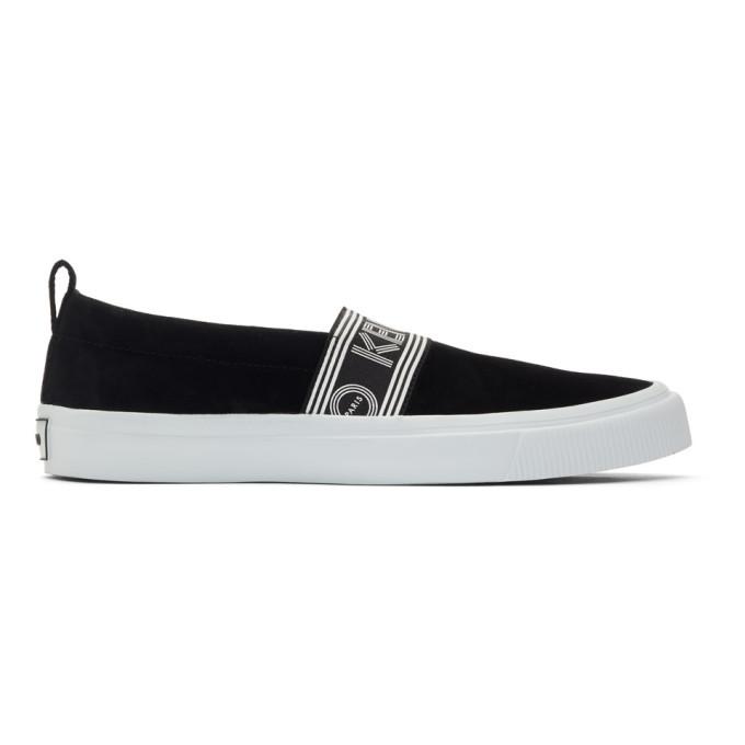 Photo: Kenzo Black Suede Kapri Slip-On Sneakers