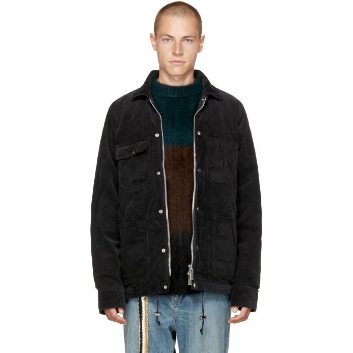 Sacai Black Corduroy Jacket