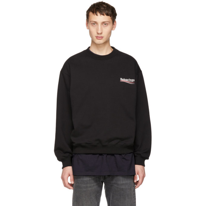 Photo: Balenciaga Black Campaign Logo Sweatshirt