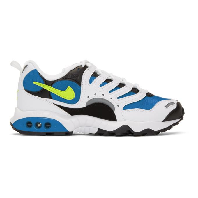 Photo: Nike Blue and White Air Terra Humara 18 Sneakers