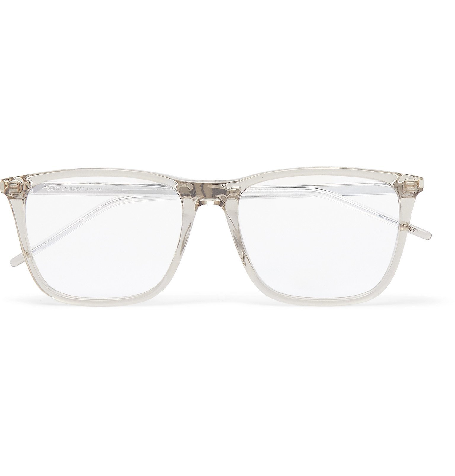 Photo: SAINT LAURENT - Square-Frame Acetate Optical Glasses - Brown