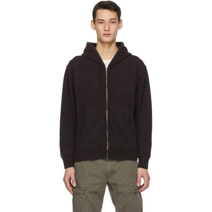 Photo: RRL Black Fleece Garment-Dyed Hoodie