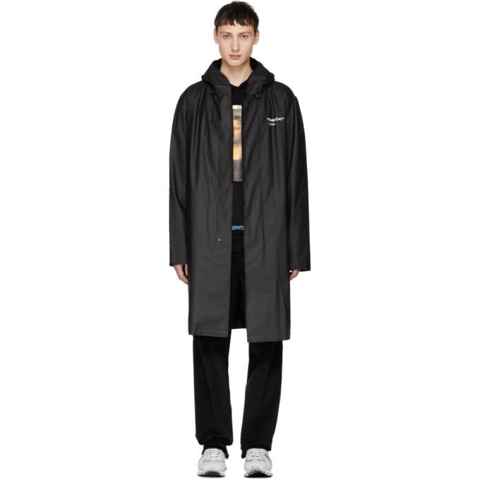 Photo: Off-White Black Quote Raincoat