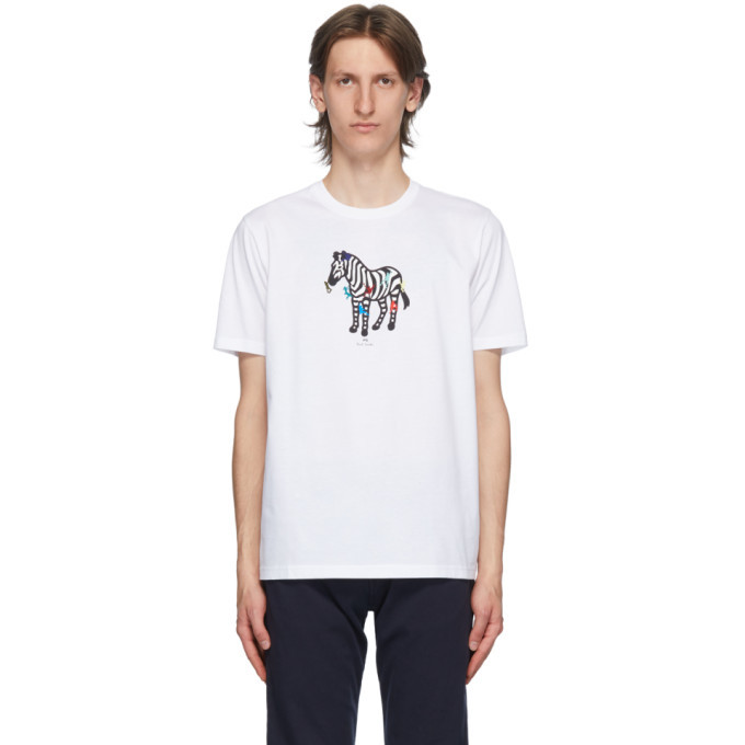 Photo: PS by Paul Smith White Zebra Icon T-Shirt