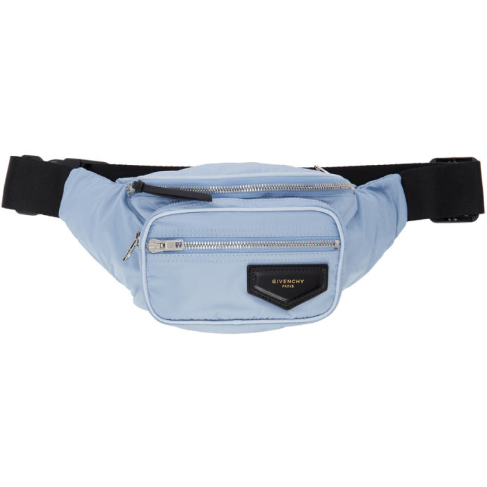 Photo: Givenchy Blue Nylon Bum Bag Belt Pouch