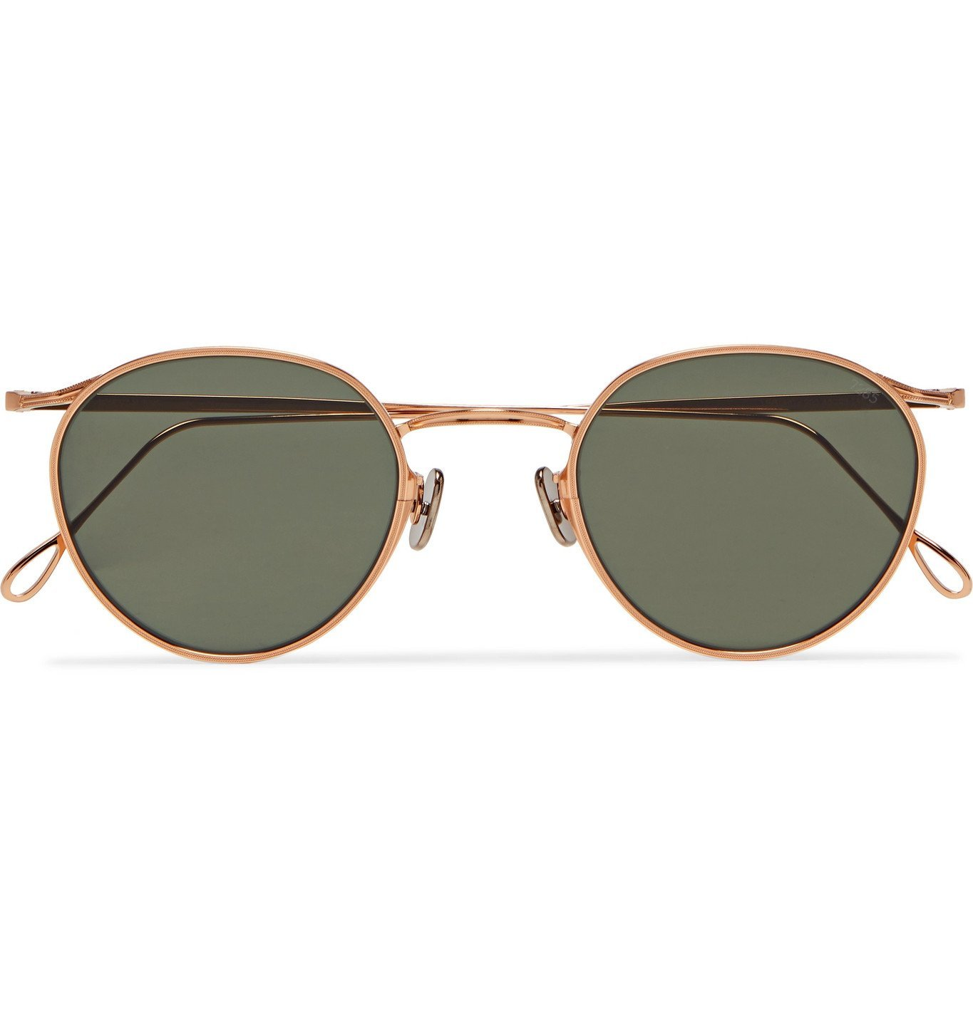 Photo: Eyevan 7285 - Round-Frame Rose Gold-Tone Sunglasses - Gold