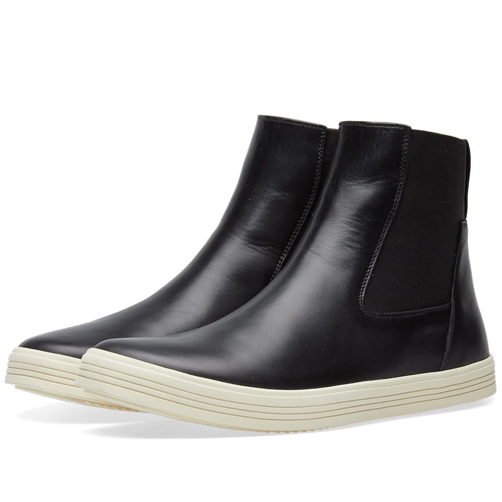 Photo: Rick Owens Mastodon Elastic Sneaker Boot Black