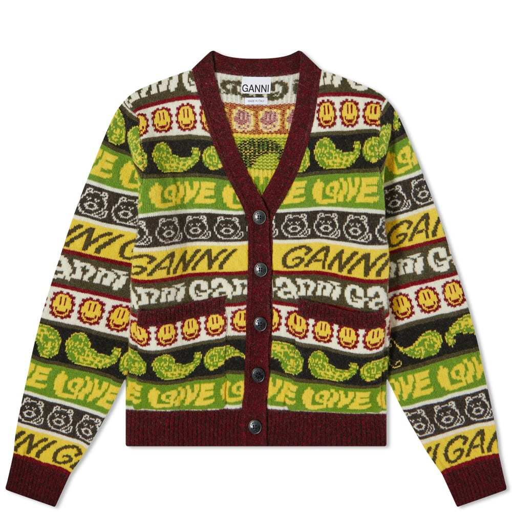 Photo: GANNI Knitted Cardigan Will All Over Pattern