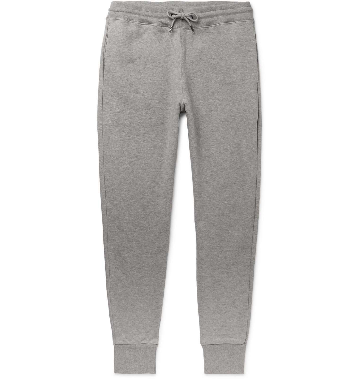Photo: PS Paul Smith - Tapered Fleece-Back Organic Cotton-Jersey Sweatpants - Gray