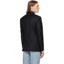 Dunhill Navy Wool Mayfair Blazer