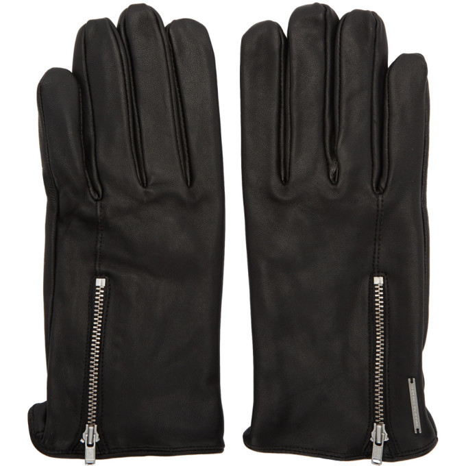 Photo: Tiger of Sweden Black Leather Guesti Gloves