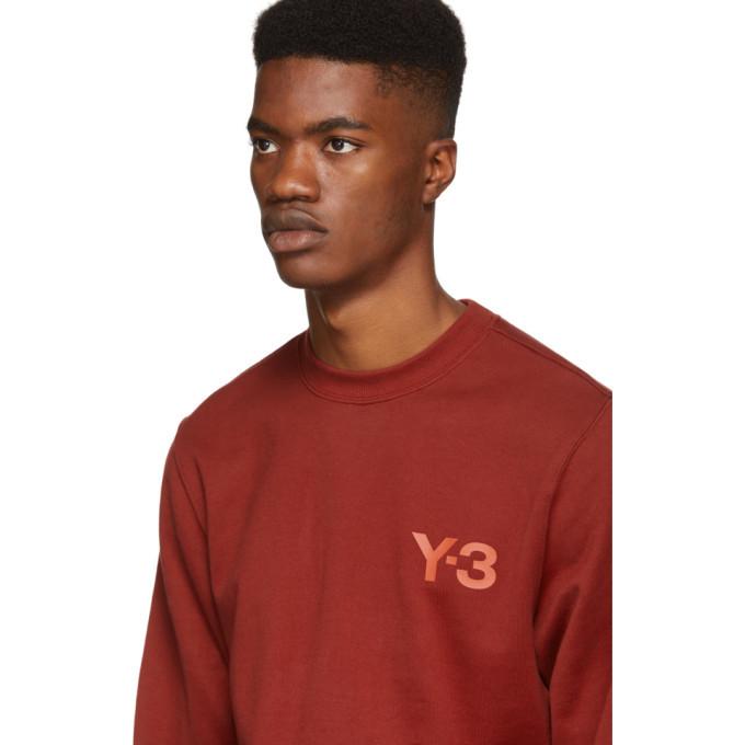 Y-3 Red Classic Logo Crewneck Sweatshirt