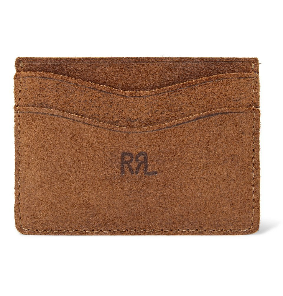 Photo: RRL - Roughout Leather Cardholder - Tan