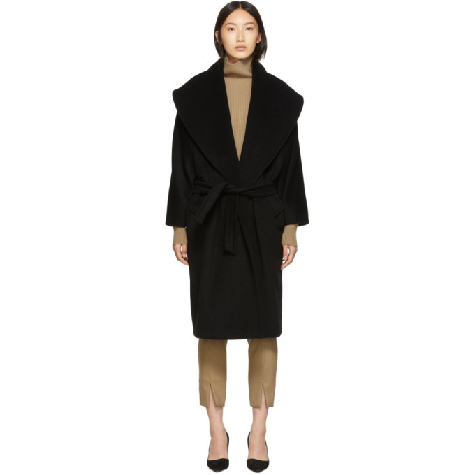 Max Mara Black Fretty Coat