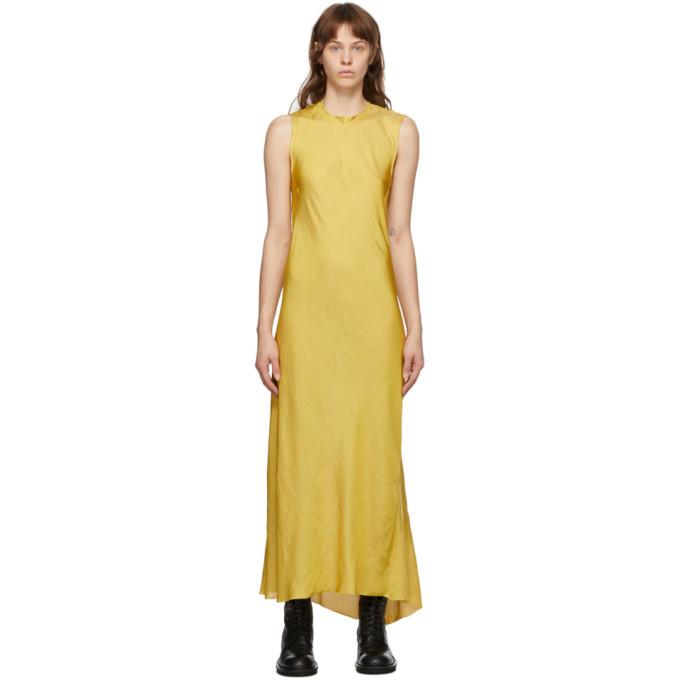 Photo: Ann Demeulemeester SSENSE Exclusive Yellow Keyhole Dress