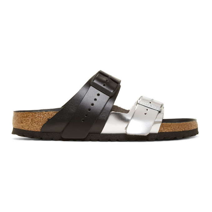Photo: Rick Owens Black and Silver Birkenstock Edition Arizona Rotterdam Sandals