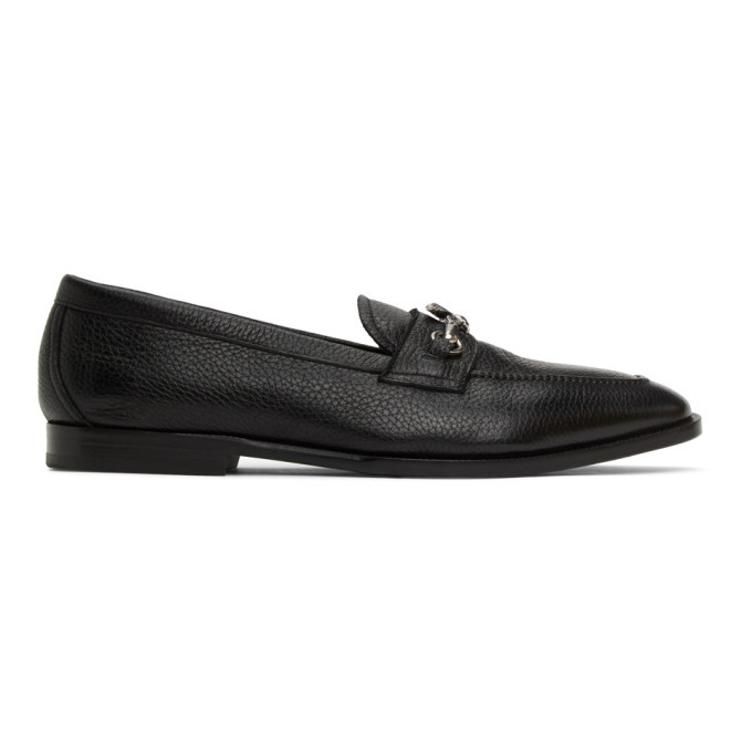 Photo: Etro Black Pegaso Loafers