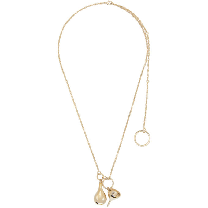 Photo: Lemaire Gold Small Perfume Bottle Pendant Necklace