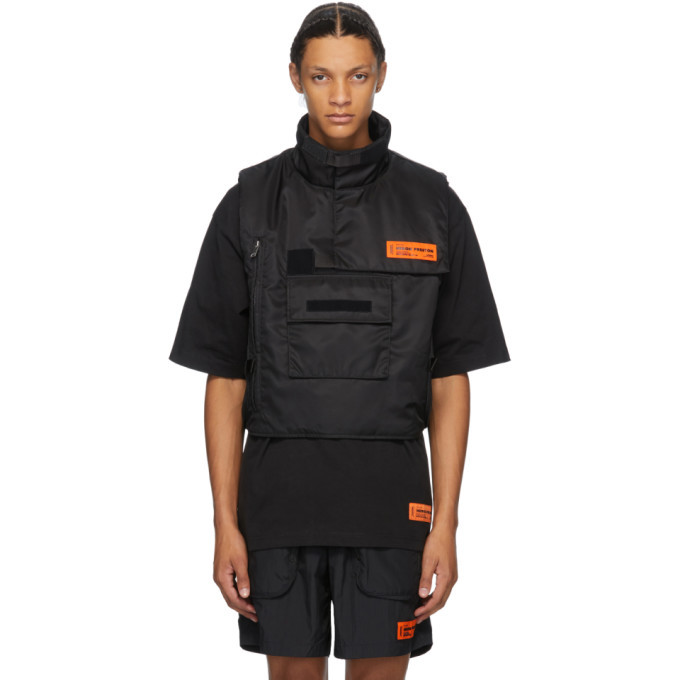 Photo: Heron Preston Black Military Vest