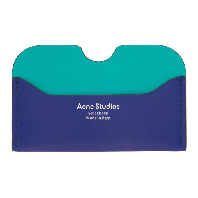 Photo: Acne Studios Blue Logo Card Holder