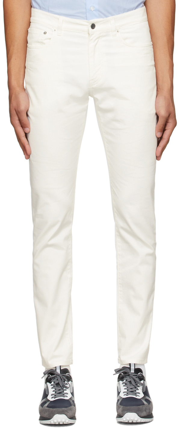 Photo: Dunhill Off-White Twill Trousers