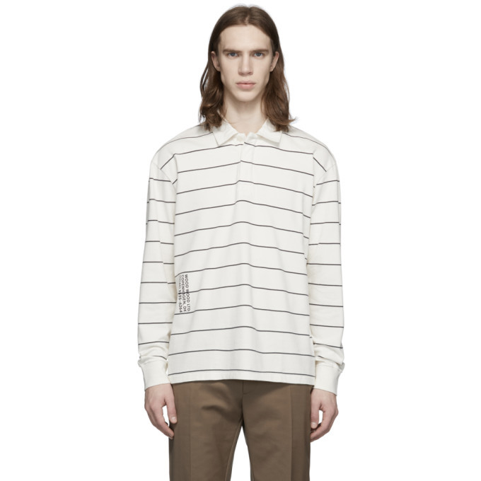 Photo: Wood Wood Off-White Beck Long Sleeve Polo