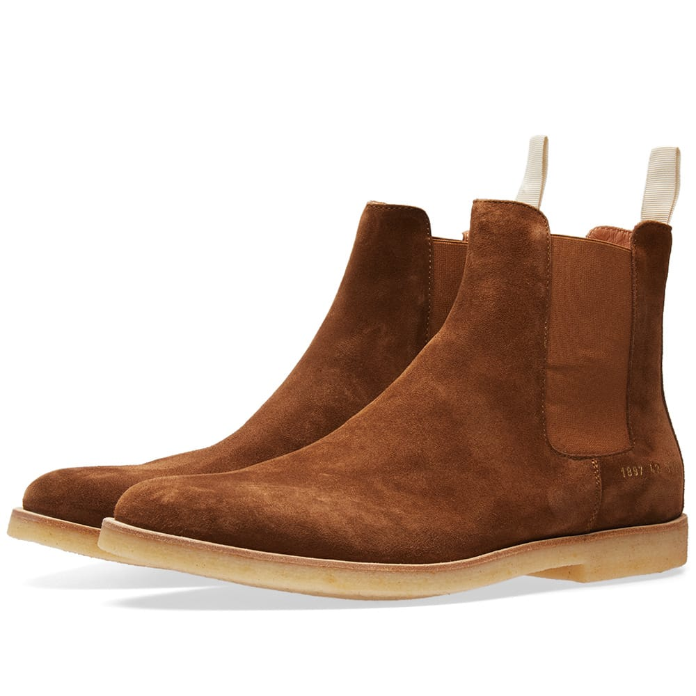 Photo: Common Projects Chelsea Boot Suede Brown