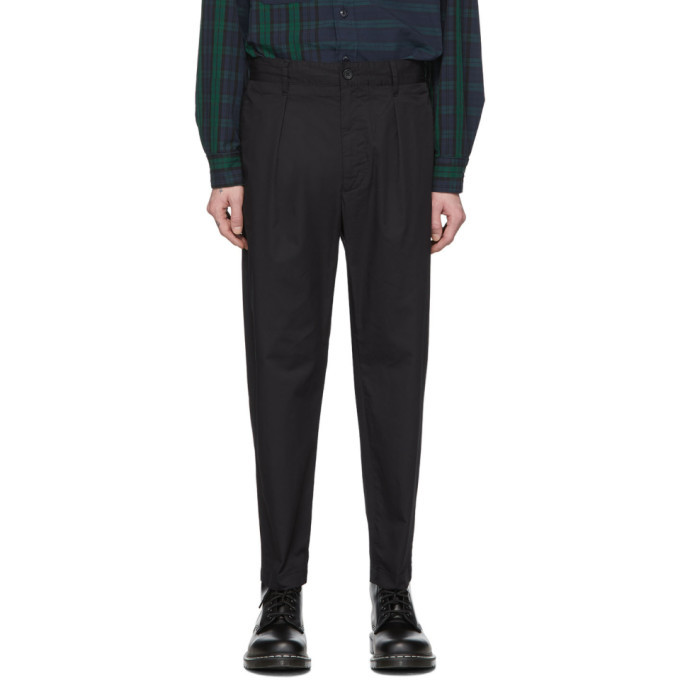 Photo: Engineered Garments Black Carlyle Trousers