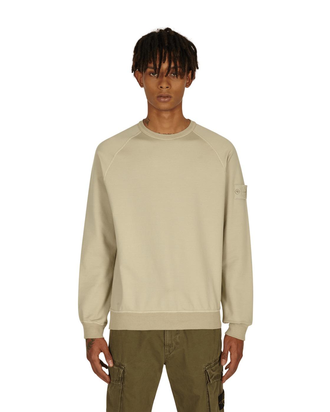 Stone Island Ghost Piece Crewneck Sweatshirt Beige