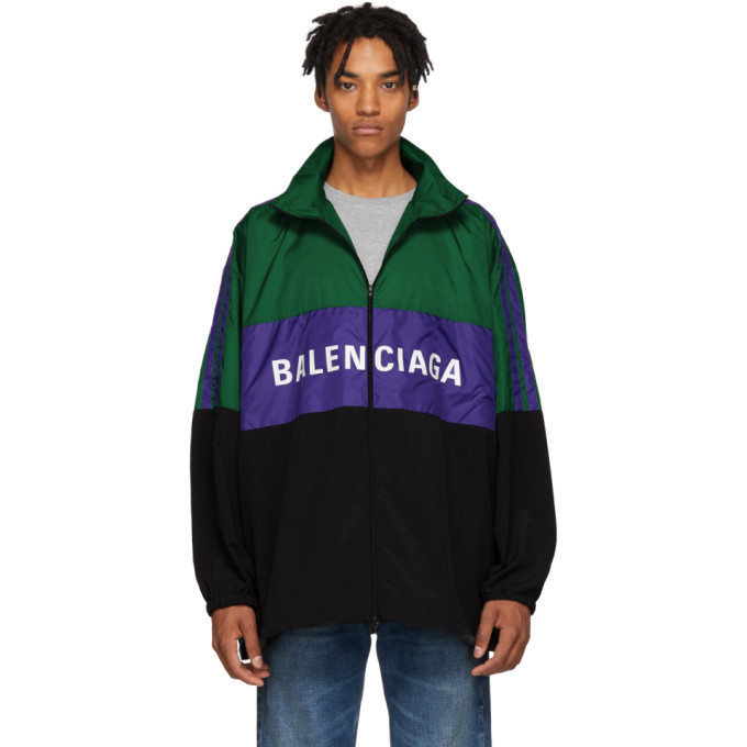 Photo: Balenciaga Green Logo Tracksuit Jacket