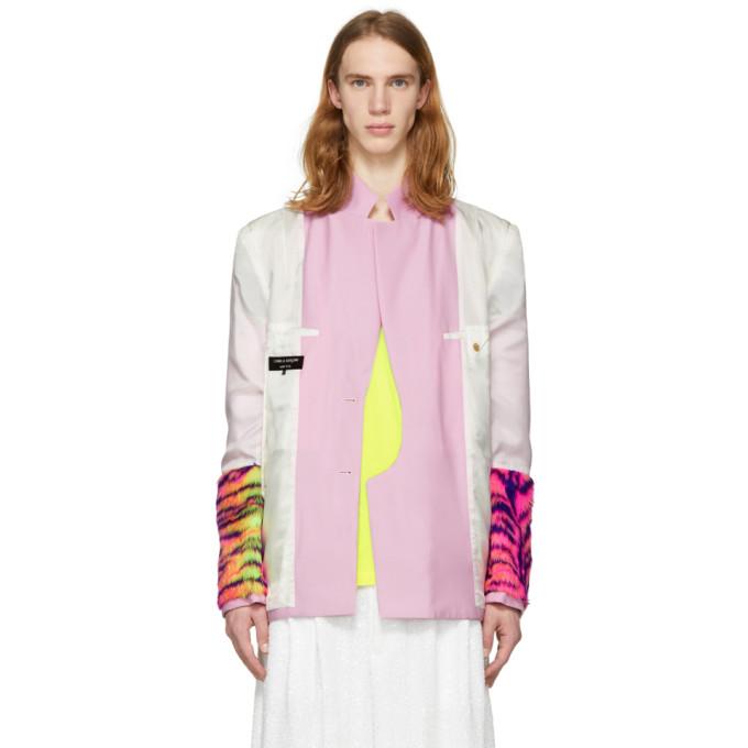 Comme des Garcons Homme Plus Reversible Pink Multi Fabric Blazer