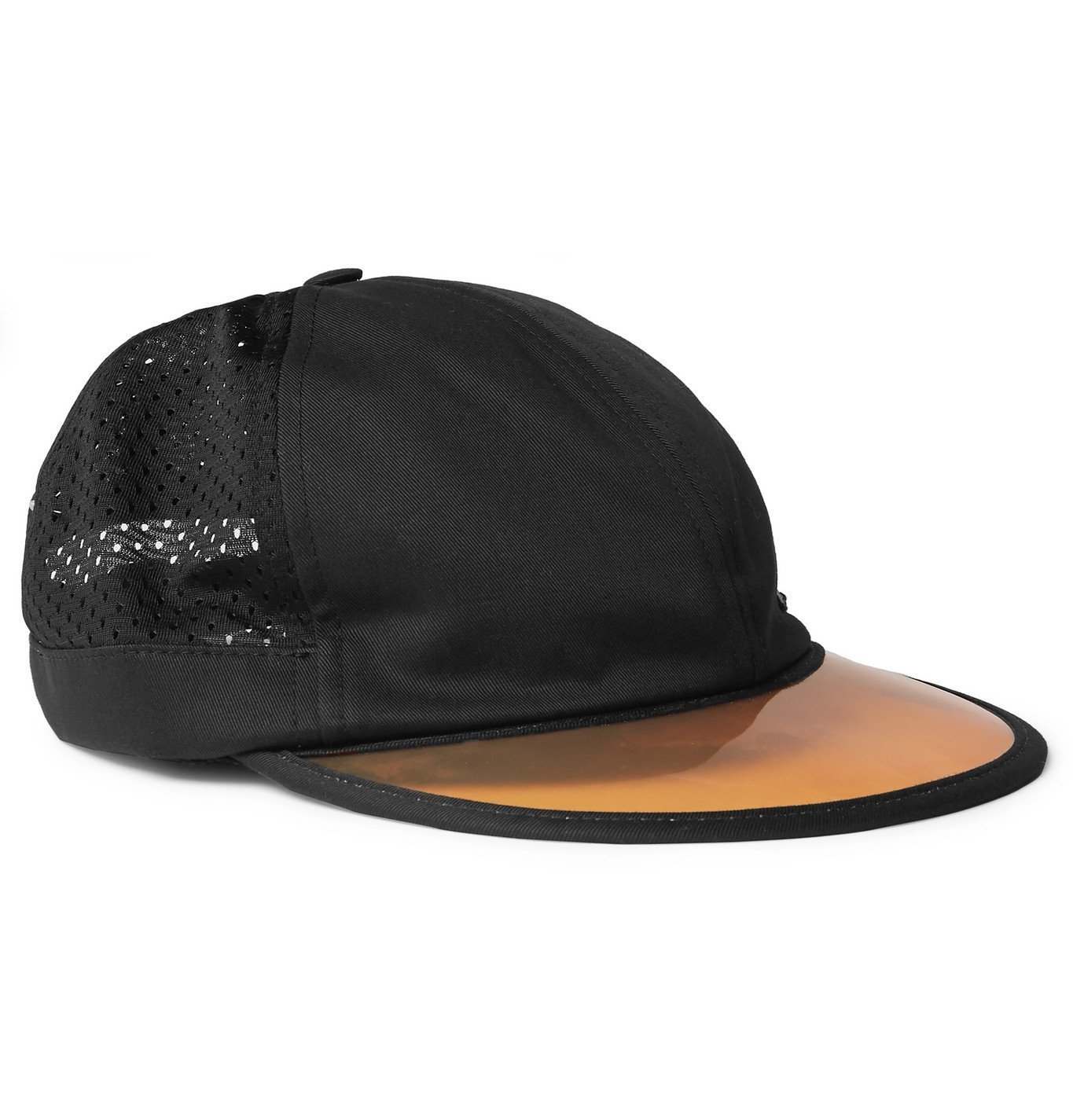 Photo: Gucci - Embroidered Cotton-Twill and Mesh Baseball Cap - Black
