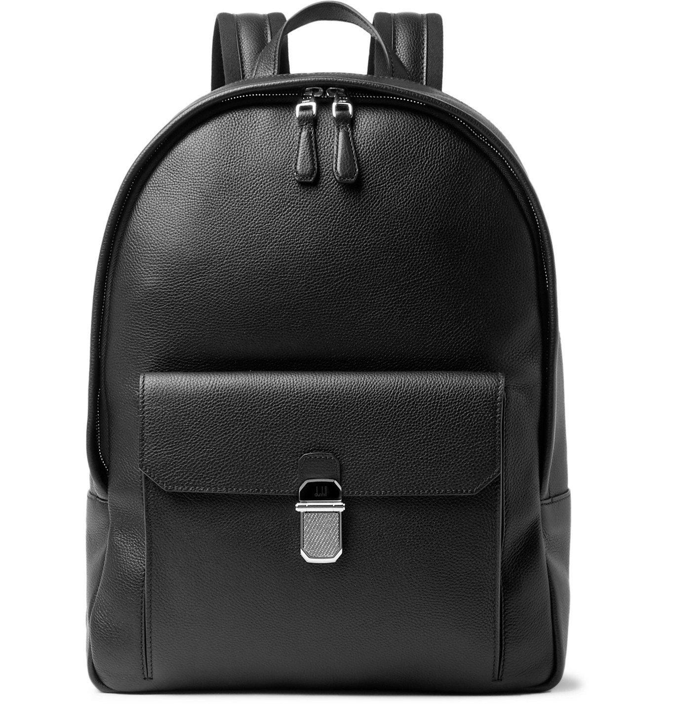 Dunhill - Belgrave Full-Grain Leather Backpack - Black