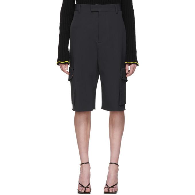 Photo: Bottega Veneta Black Cargo Shorts