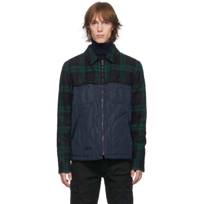 Belstaff Navy and Green Lodge Jacket