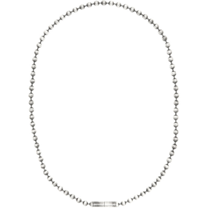 Photo: Ann Demeulemeester Silver Globule Necklace