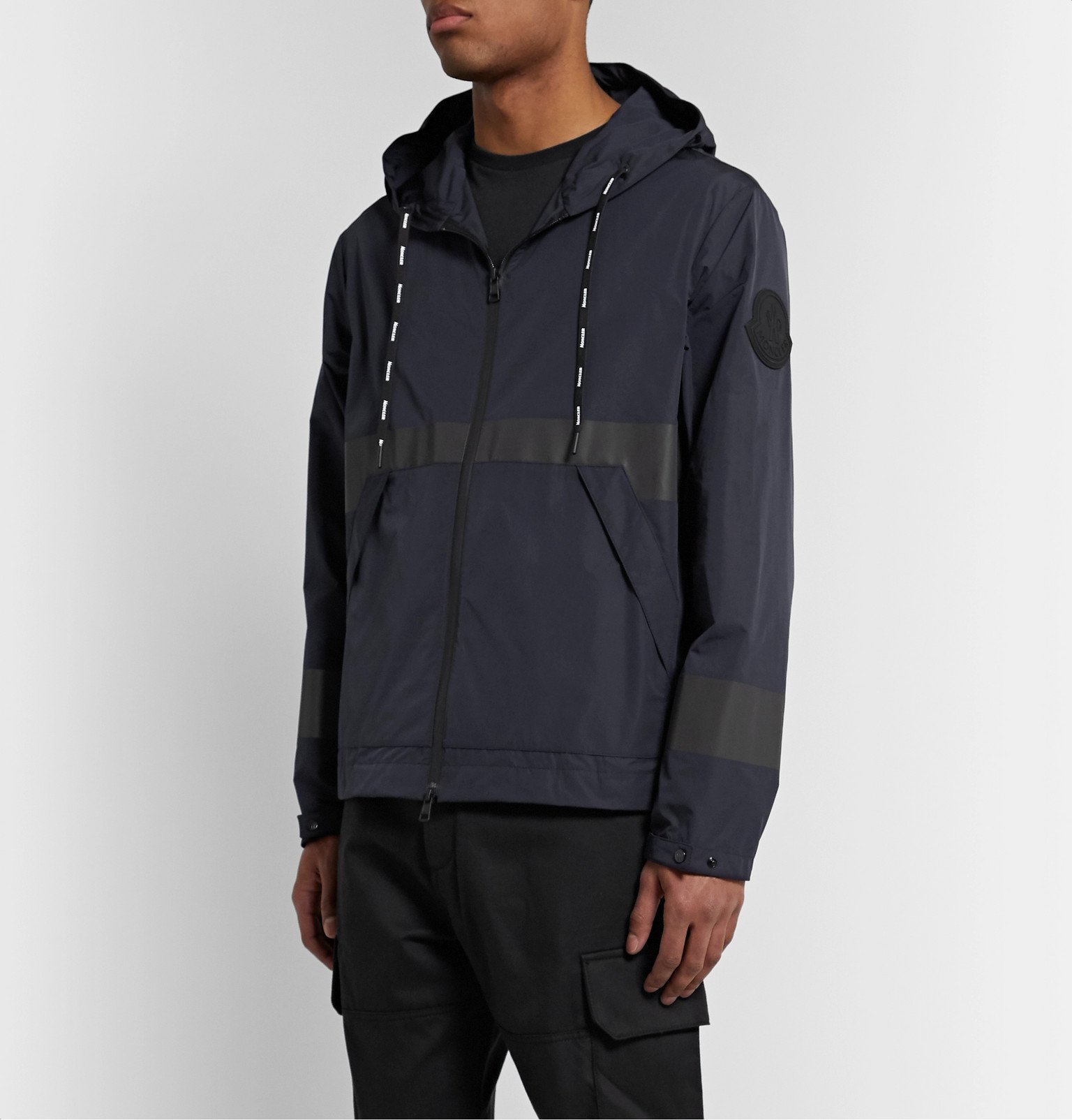 Moncler - Adour Reflective-Trimmed Shell Hooded Jacket - Blue
