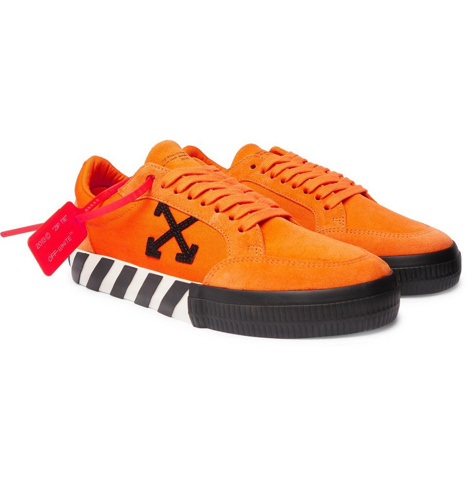 Photo: Off-White - Suede and Canvas Sneakers - Orange