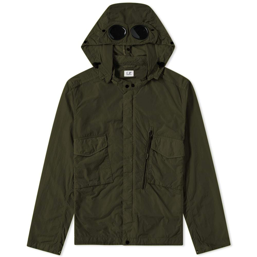 C.P. Company Chrome Goggle Hooded Shirt Jacket Green