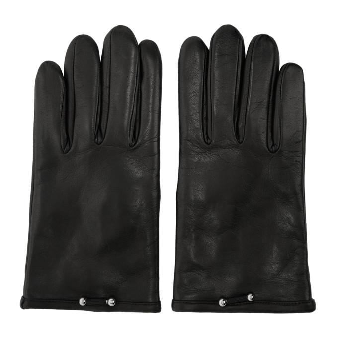 Photo: Neil Barrett Black Leather Pierced Gloves