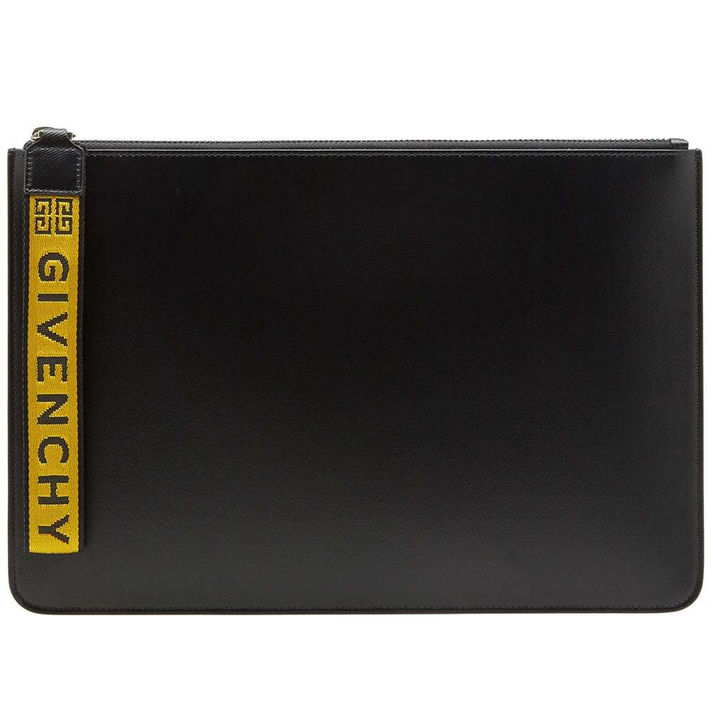 Photo: Givenchy Logo Taping Zip Pouch